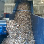 chain conveyor in operation